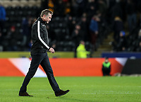 Bolton Wanderers' manager Phil Parkinson trudges off the pitch after a heavy defeat<br /> <br /> Photographer Andrew Kearns/CameraSport<br /> <br /> The EFL Sky Bet Championship - Hull City v Bolton Wanderers - Tuesday 1st January 2019 - KC Stadium - Hull<br /> <br /> World Copyright © 2019 CameraSport. All rights reserved. 43 Linden Ave. Countesthorpe. Leicester. England. LE8 5PG - Tel: +44 (0) 116 277 4147 - admin@camerasport.com - www.camerasport.com