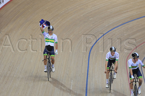 03.03.2016. Lee Valley Velo Centre, London England. UCI Track Cycling World Championships Mens Team Pursuit final.  Team  Australia<br />