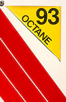 GAS STATION: OCTANE SIGN AT PUMP<br />