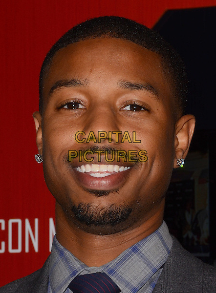 LOS ANGELES, CA - FEBRUARY 25 - Michael B. Jordan. Arrivals for the ICON MANN's 2 annual Power 50 pre-Oscar dinner at The Peninsula Hotel in Beverly Hills, Ca.<br /> CAP/ADM/BT<br /> &copy;Birdie Thompson/AdMedia/Capital Pictures