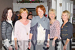 TASTE DELIGHT: Enjoying the taste delights at the Garvey's Supervalu Food Fair at the Earl of Desmond hotel on Friday l-r: Caroline Reidy, Maria Corkery, Catherine Burke, Catherine Hanafin and Teresa Cashman.