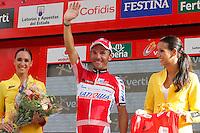 Joaquin PUrito Rodriguez with leader red jersey after the stage of La Vuelta 2012 between Andorra  and Barcelona.August 26,2012. (ALTERPHOTOS/Paola Otero) /NortePhoto.com<br /> <br /> **CREDITO*OBLIGATORIO** <br /> *No*Venta*A*Terceros*<br /> *No*Sale*So*third*<br /> *** No*Se*Permite*Hacer*Archivo**<br /> *No*Sale*So*third*