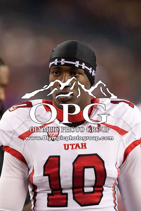 NOV 10, 2012:  Utah's Devonte Christopher against Washington.  Washington defeated Utah  34-15 at CenturyLink Field in Seattle, WA...