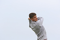 Oliver Brown (WAL) on the 1st tee during Round 1of the Flogas Irish Amateur Open Championship 2019 at the Co.Sligo Golf Club, Rosses Point, Sligo, Ireland. 16/05/19<br /> <br /> Picture: Thos Caffrey / Golffile<br /> <br /> All photos usage must carry mandatory copyright credit (© Golffile | Thos Caffrey)