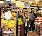 March 29th 2012..Rachel Zoe shopping at Whole foods market in Beverly Hills. Rachel was carrying her baby Skyler while shopping for apples fruit & food. Rachel was wearing a leopard cheetah print shirt ...AbilityFilms@yahoo.com.805-427-3519.www.AbilityFilms.com