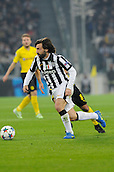 24.02.2015.  Turin, Italy. Champions League Football. Juventus versus Borussia Dortmund. Andrea Pirlo of Juventus in action