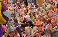 NWA Democrat-Gazette/BEN GOFF @NWABENGOFF<br /> Tommy Terrific (Tommy Diaz of Little Rock) performs his Wacky Magic show Thursday, July 6, 2017, for children at the Bentonville Public Library.