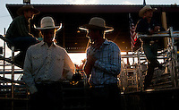 Yfat Yossifor | Mlive.com<br /> Rodeo crew hang out in the shoots during the championship rodeo on Wednesday, Aug. 14, at the Midland County Fair at 6905 Eastman in Midland. The fair continues through Saturday, Aug. 17.