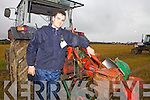 This years youngest competitor from Kerry was Mikey O'Halloran pictured pictured on Tuesday ahead of the U21Conventional Ploughing Class-Junior Class