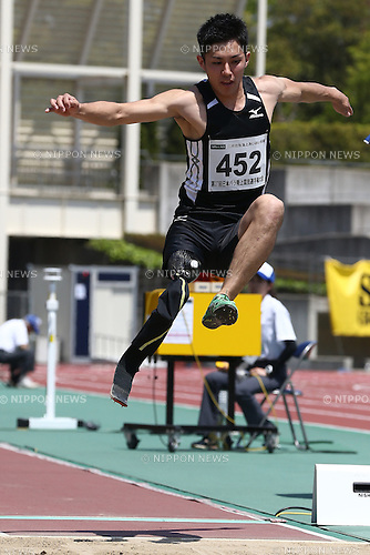 Junta Kosuda,<br /> MAY 1, 2016 - Athletics :<br /> Japan Para Athletics Championships<br /> Men's Long Jump T42 Final<br /> at Coca Cola West Sports Park, Tottori, Japan.<br /> (Photo by Shingo Ito/AFLO SPORT)