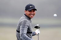 Jason Day (AUS) practices on the range during the Wednesday practice round of the 118th U.S. Open Championship at Shinnecock Hills Golf Club in Southampton, NY, USA. 13th June 2018.<br /> Picture: Golffile | Brian Spurlock<br /> <br /> <br /> All photo usage must carry mandatory copyright credit (&copy; Golffile | Brian Spurlock)