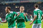 08.03.2019, Weser Stadion, Bremen, GER, 1.FBL, Werder Bremen vs FC Schalke 04, <br /> <br /> DFL REGULATIONS PROHIBIT ANY USE OF PHOTOGRAPHS AS IMAGE SEQUENCES AND/OR QUASI-VIDEO.<br /> <br />  im Bild<br /> <br /> jubel Milot Rashica (Werder Bremen #11) zum 3:1 mit Max Kruse (Werder Bremen #10) Martin Harnik (Werder Bremen #09)<br /> <br /> Foto &copy; nordphoto / Kokenge