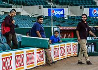 Reporteros, durante el d&iacute;a de apertura de la temporada de beisbol de la Liga Mexicana del Pacifico 2017 2018 con el partido entre Naranjeros vs Yaquis. 11 octubre2017 . <br /> (Foto: Luis Gutierrez /NortePhoto.com)