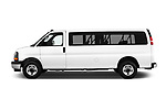 Car Driver side profile view of a 2017 GMC Savana-Passenger 3500-LS-Ext 5 Door Passenger Van Side View