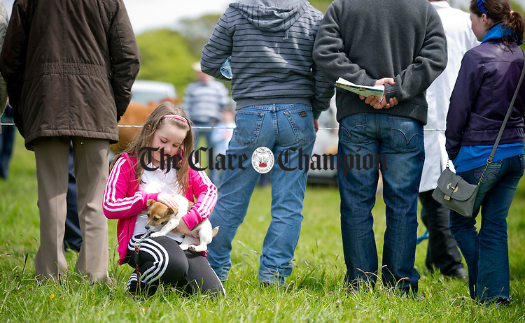 Lauren Fitzgerald from Kilnamona behind the scenes during the Newmarket Show at the weekend. Photograph by Declan Monaghan