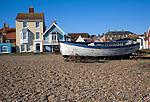 Fishing boats on the beach, Aldeburgh, Suffolk, England.