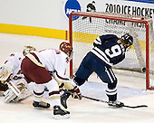 Brian O'Neill (Yale - 9) ties the game at 1 midway through the first. - The Boston College Eagles defeated the Yale University Bulldogs 9-7 in the Northeast Regional final on Sunday, March 28, 2010, at the DCU Center in Worcester, Massachusetts.