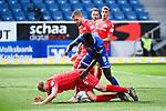 Marvin Friedrich (Union Berlin, l.) gegen Ihlas Bebou (Hoffenheim, r.).<br /> <br /> Sport: Fussball: 1. Bundesliga: Saison 19/20: 33. Spieltag: TSG 1899 Hoffenheim - 1. FC Union Berlin, 20.06.2020<br /> <br /> Foto: Markus Gilliar/GES/POOL/PIX-Sportfotos<br /> <br /> Foto © PIX-Sportfotos *** Foto ist honorarpflichtig! *** Auf Anfrage in hoeherer Qualitaet/Aufloesung. Belegexemplar erbeten. Veroeffentlichung ausschliesslich fuer journalistisch-publizistische Zwecke. For editorial use only. DFL regulations prohibit any use of photographs as image sequences and/or quasi-video.