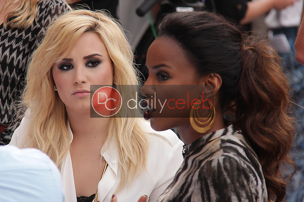 Demi Lovato, Kelly Rowland<br /> at &quot;The X Factor&quot; Los Angeles Auditions, Galen Center, Los Angeles, CA 07-11-13<br /> David Edwards/DailyCeleb.Com 818-249-4998