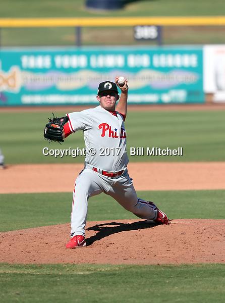 Garrett Cleavinger - Glendale Desert Dogs - 2017 Arizona Fall League (Bill Mitchell)