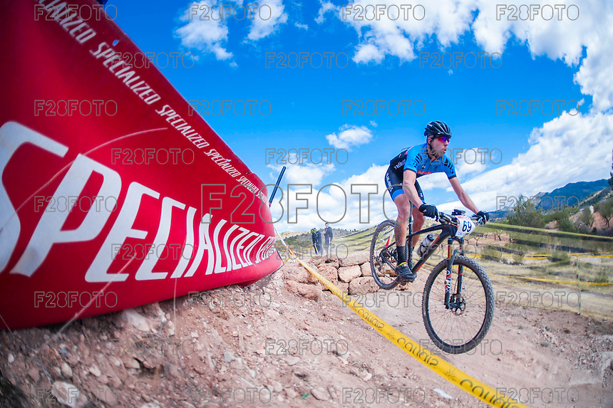Chelva, SPAIN - MARCH 6: Sergio Moreno during Spanish Open BTT XCO on March 6, 2016 in Chelva, Spain