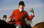 Master of the Bevoir Hunt Leicestershire England.  Stirrup cup at the  Meet.
