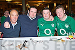 ..Tucking into the rashers and sausages before the Irish/Wales game in the INEC on Saturday morning was l-r: Martin O'Connor, Eoin Ryan, Tommy Hanley and Rob McDonnell..