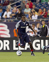 New England Revolution midfielder Shalrie Joseph (21) at midfield. The New England Revolution defeated the Seattle Sounders FC, 3-1, at Gillette Stadium on September 4, 2010.