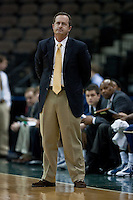 January 14, 2012:    East Tennessee State Buccaneers head coach Murry Bartow watches the action during Atlantic Sun conference action between the Jacksonville University Dolphins and East Tennessee State University Buccaneers at Veterans Memorial Arena in Jacksonville, Florida.   East Tennessee State defeated Jacksonville 72-58.