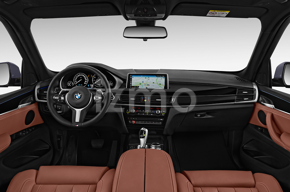 Stock photo of straight dashboard view of a 2018 BMW X5 Plug-in Hybrid iPerformance 5 Door SUV
