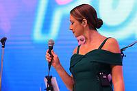 SAO PAULO,SP, 13.11.2018 - SALAO-AUTOMOVEL - A Cantora Sabrina Parlatore, faz um pocket show no stand da Fiat no Salão Internacional do Automóvel em São Paulo, nesta terça-feira 13 de Novembro, 13. (Foto: Paulo Guereta/ Brazil Photo Press)