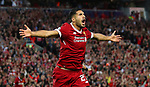 Emre Can of Liverpool celebrates the opening goal during the Champions League playoff round at the Anfield Stadium, Liverpool. Picture date 23rd August 2017. Picture credit should read: Lynne Cameron/Sportimage