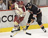 Paul Stastny, Brett Westgarth - The Princeton University Tigers defeated the University of Denver Pioneers 4-1 in their first game of the Denver Cup on Friday, December 30, 2005 at Magness Arena in Denver, CO.