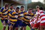 Patumahoe forwards prepare for a scrum. Counties Manukau Premier Club Rugby, Patumahoe vs Karaka played at Patumahoe on Saturday 22nd April 2006. Karaka won 19 - 6.