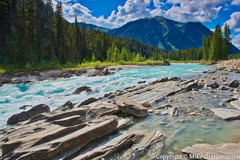 Numa Falls om the Vermillion River and the Canadian Rocky Mountains, Kootenay National Park, British Columbia, Canada