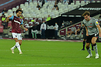 Felipe Anderson scores the third Goal and celebrates during West Ham United vs Charlton Athletic, Caraboa Cup Football at The London Stadium on 15th September 2020