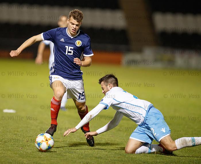 05.09.2019 Scotland u-21 v San Marino, European u-21 Championship 2021 Qualifying Round: Lewis Smith and Giacomo Conti