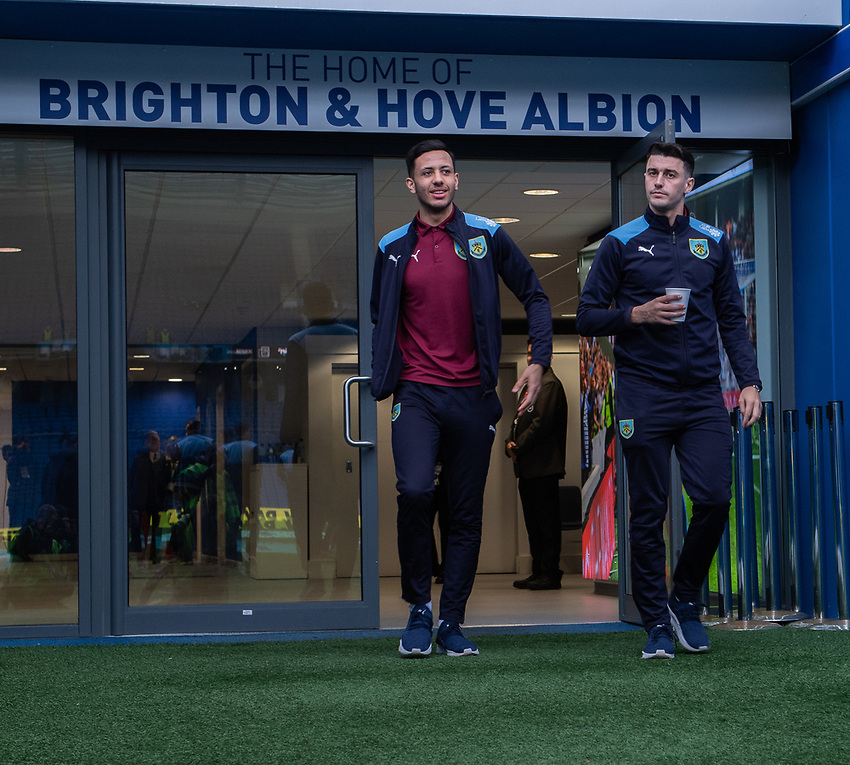 Burnley at the The Amex Stadium <br /> <br /> Photographer David Horton/CameraSport<br /> <br /> The Premier League - Brighton and Hove Albion v Burnley - Saturday 9th February 2019 - The Amex Stadium - Brighton<br /> <br /> World Copyright © 2019 CameraSport. All rights reserved. 43 Linden Ave. Countesthorpe. Leicester. England. LE8 5PG - Tel: +44 (0) 116 277 4147 - admin@camerasport.com - www.camerasport.com