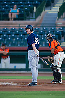 AZL Brewers designated hitter Pat McInerney (62) at bat against the AZL Giants on August 15, 2017 at Scottsdale Stadium in Scottsdale, Arizona. AZL Giants defeated the AZL Brewers 4-3. (Zachary Lucy/Four Seam Images)