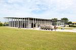 New visitor centre building designed by Denton Corker Marshall 2013, Stonehenge, Wiltshire, England, UK