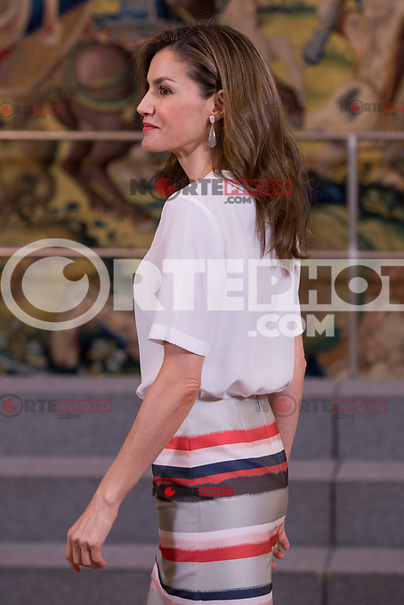 Queen Letizia of Spain attends to several audiences at Zarzuela Palace in Madrid, July 05, 2017. Spain.<br /> (ALTERPHOTOS/BorjaB.Hojas) /NortePhoto.com