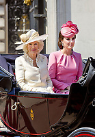 17 June 2017 - London, England - Duchess Kate, Princess Kate, Duchess of Cambridge and Camilla, Duchess of Cornwall<br /> . The ceremony of the Trooping the Colour, marking the monarch's official birthday, in London. Photo Credit: PPE/face to face/AdMedia