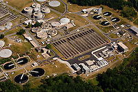 Aerial photo of a Charlotte waste water treatment plant taken May 2008.