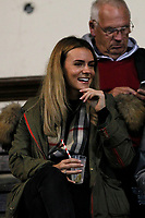 A fan all smiles during the Championship Cup match between London Scottish Football Club and Yorkshire Carnegie at Richmond Athletic Ground, Richmond, United Kingdom on 4 October 2019. Photo by Carlton Myrie / PRiME Media Images