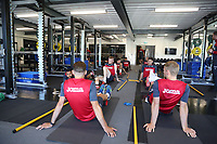 Pictured: Players working out in the gym. Wednesday 05 July 2017<br />Re: Swansea City FC training at Fairwood training ground, UK