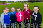 Killarney Community College students, l-r: Alanah Loughnane Marth Fitzgerald Niamh Stack Caoimhe Curley and Alision O'Sullivan, pictured at the Kerry ETB Athletics event at An Riocht, Castleisland, on Friday last.