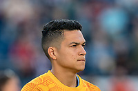 FOXBOROUGH, MA - SEPTEMBER 29: Tony Rocha #15 of New York City FC during a game between New York City FC and New England Revolution at Gillette Stadium on September 29, 2019 in Foxborough, Massachusetts.