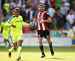 Ched Evans of Sheffield Utd during the Championship match at Bramall Lane, Sheffield. Picture date 26th August 2017. Picture credit should read: Simon Bellis/Sportimage