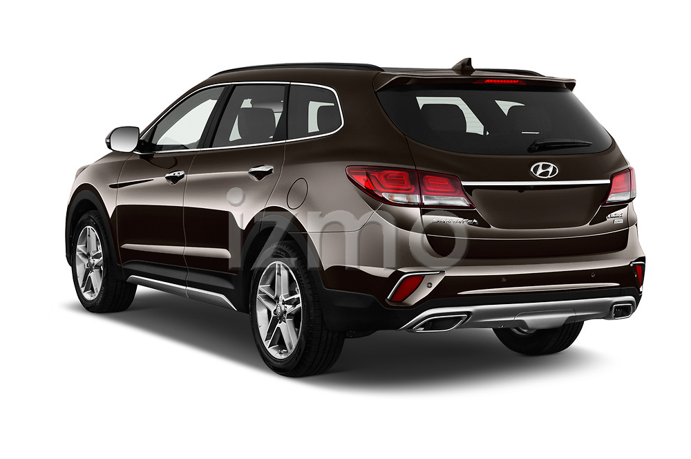 Car pictures of rear three quarter view of 2018 Hyundai Santa-Fe Limited-Ultimate-FWD 5 Door SUV Angular Rear