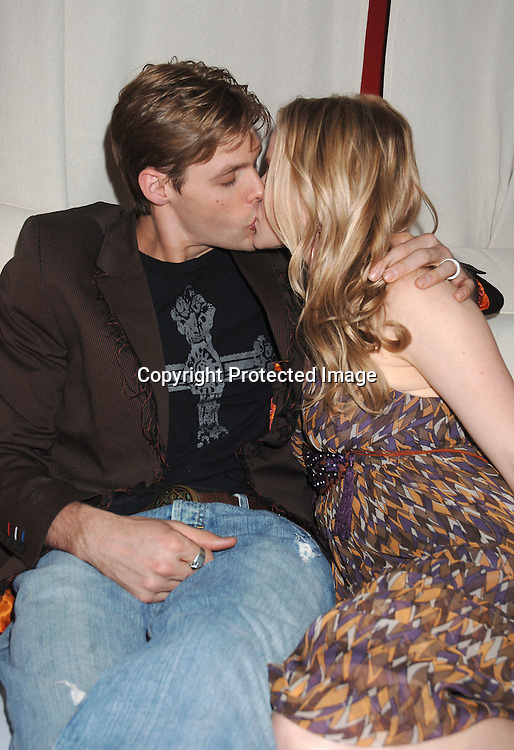 Justin Bruening and wife Alexa Havins ..at Marcia Tovsky's Pre Emmy Party on April 19, 2006..at Nikki Midtown...Robin Platzer, Twin Images